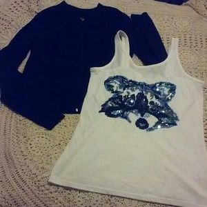Girls Sequined Jacket w/Tank